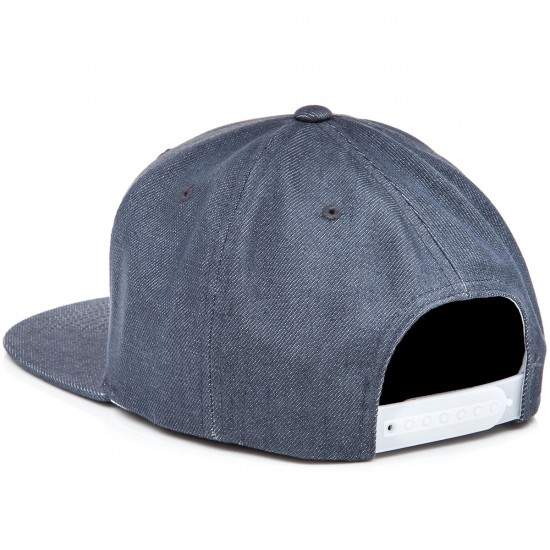 Brixton Oath III Snapback Hat - Light Blue/Burgundy