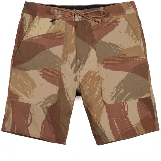 Brixton Prospect Relaxed Fit Service Shorts - Camo
