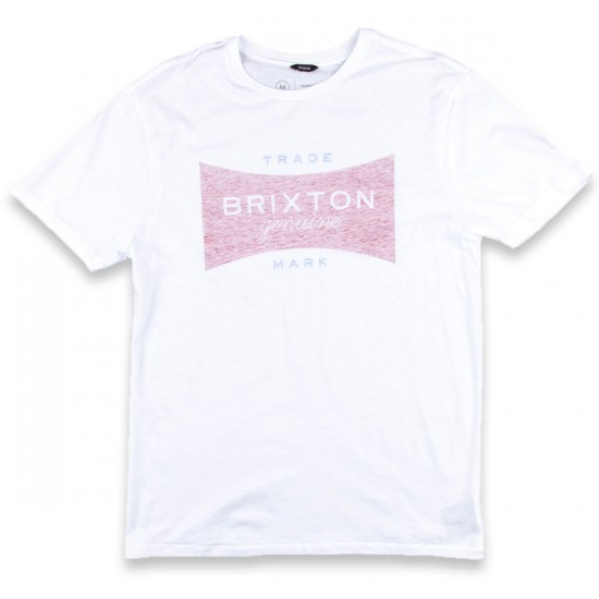 Brixton Ramsey Short Sleeve Premium T-Shirt - White/Navy/Red