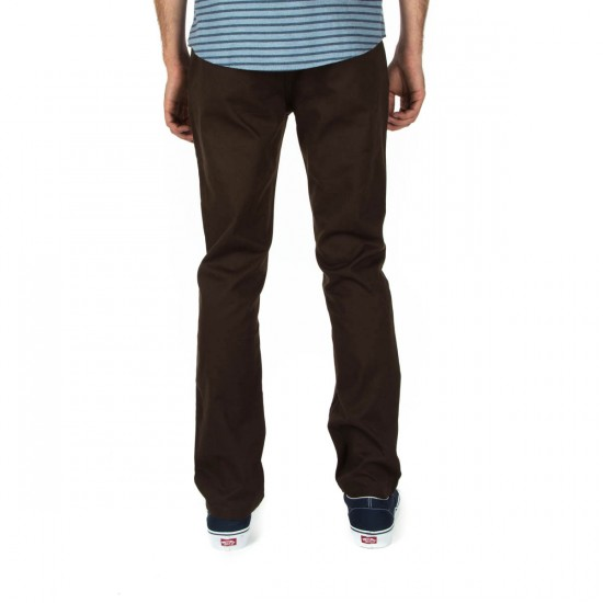 Brixton Reserve Chino Pants - Dark Brown - 30 - 32