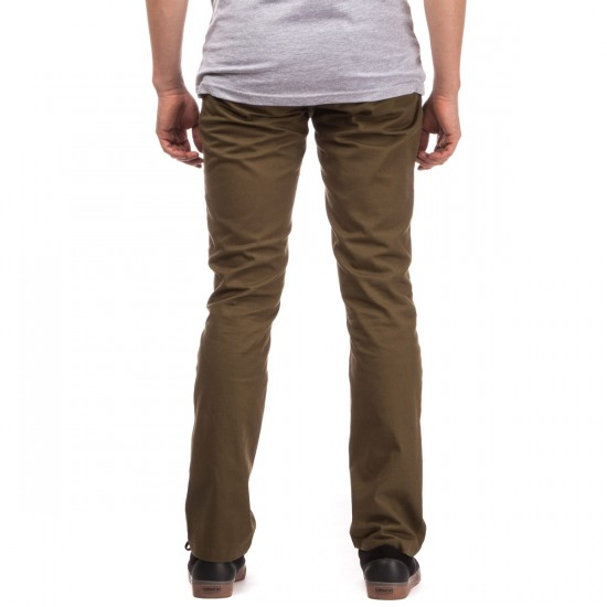 Brixton Reserve Chino Pants - Olive - 28 - 32