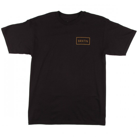 Brixton Rift Short Sleeve Standard T-Shirt - Black/Gold
