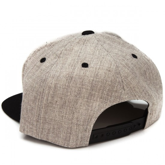 Brixton Rival Snap Back Hat - Light Heather Grey/Black