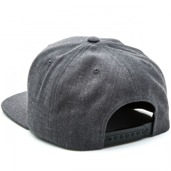 Brixton Rival Snapback Hat - Charcoal Heather