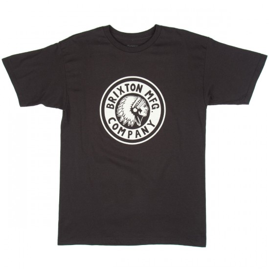 Brixton Rival Standard T-Shirt - Washed Black/Grey
