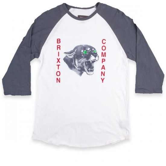 Brixton Warwick 3/4 Sleeve T-Shirt - White/Blue