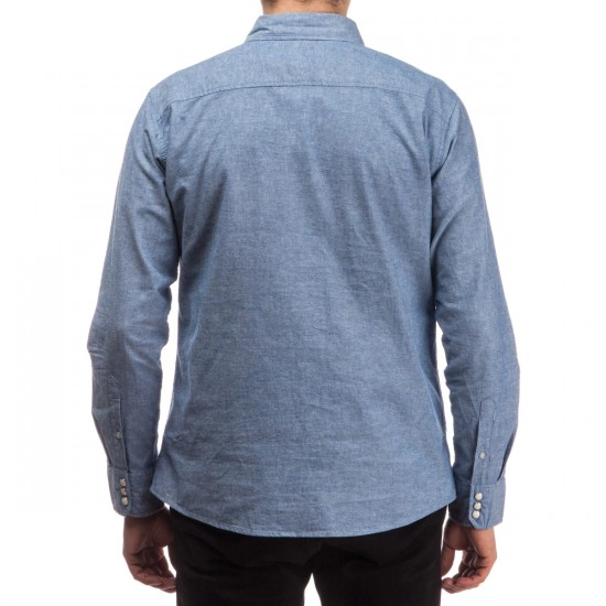 Brixton Wayne Long Sleeve Woven Shirt - Denim