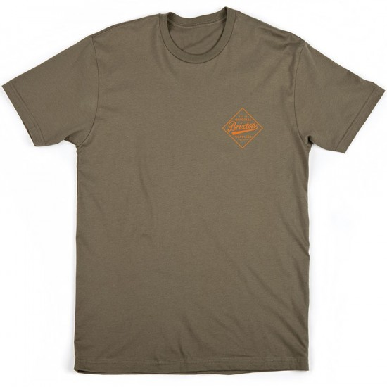 Brixton Wesson T-Shirt - Olive