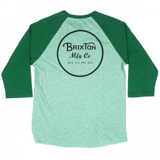 Brixton Wheeler 3/4 Sleeve T-shirt - Heather Green