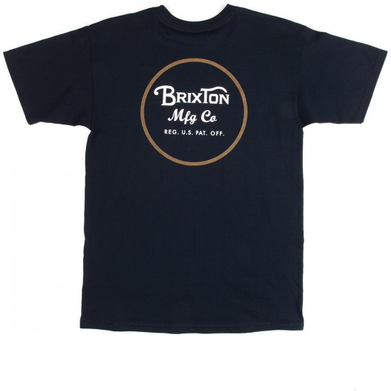Brixton Wheeler II Short Sleeve Standard T-Shirt - Navy