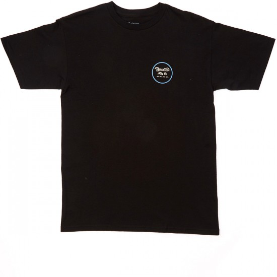 Brixton Wheeler II T-Shirt - Black/Blue
