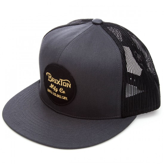 Brixton Wheeler Mesh Cap    Hat - Charcoal/Black