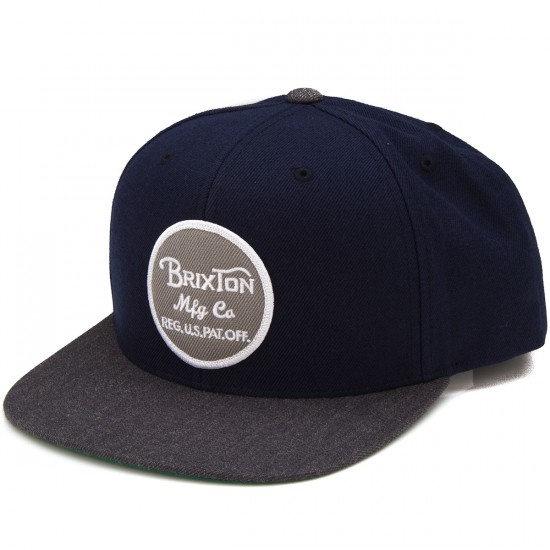 Brixton Wheeler Snap Back Hat - Navy/Charcoal