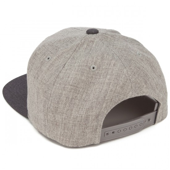 Brixton Wheeler Snapback Hat - Heather Grey/Charcoal