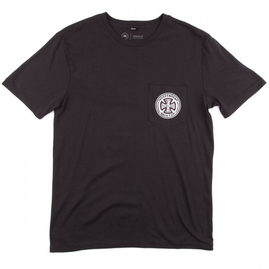 Brixton X Independent Fillmore Short Sleeve Premium T-Shirt - Washed Black