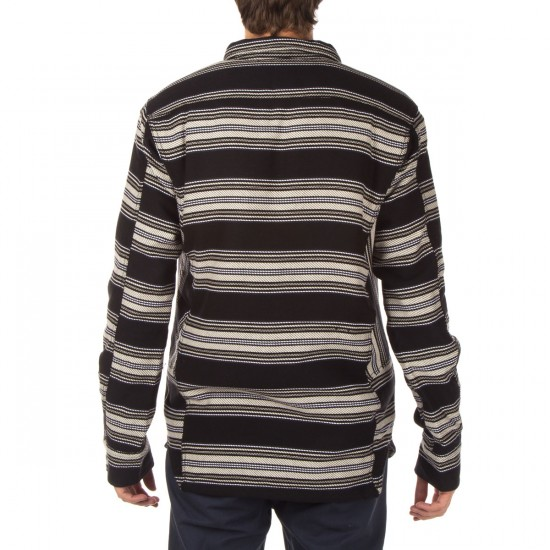 Burton Cole Sherpa Woven Shirt - True Black King Stripe