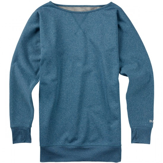 Burton Crimson Fleece Sweatshirt - Pacific Heather