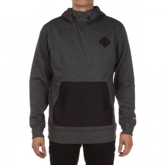 Burton Hemlock Bonded Pullover Hoodie - True Black Heather