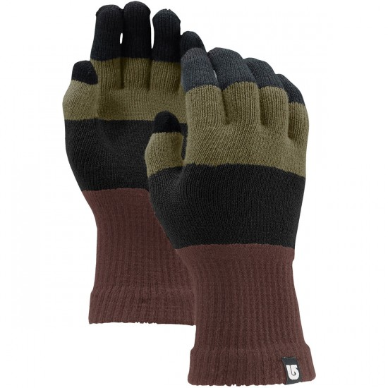 Burton Touch N Go Knit Liner Snowboard Gloves - Tawny Block