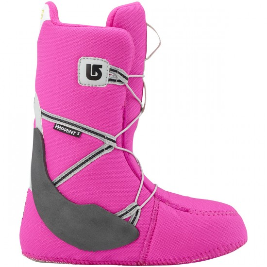 Burton Zipline Boa Youth Boots 2015 - White/Gray/Pink