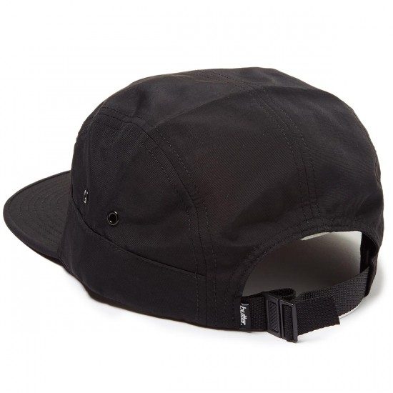 Butter Goods Registered 7 Panel Hat - Black