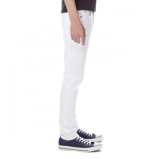 CCS Banks OG Skinny Jeans - White Distressed - 32 - 30