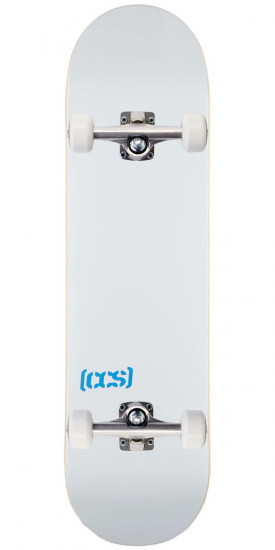 White, 7.00 Natural Wood//Colors//Multiple Sizes CCS Logo Blank Skateboard Deck