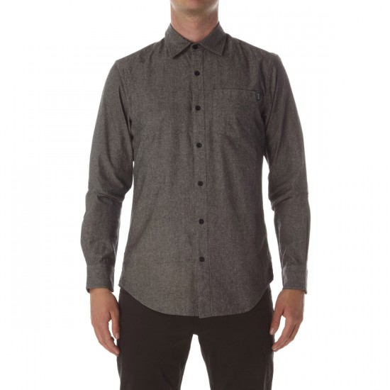 CCS Switch Long Sleeve Woven Shirt - Distressed Black