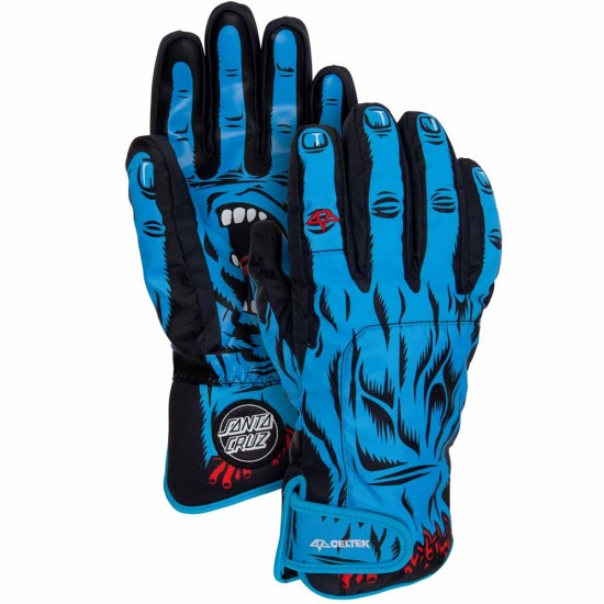 Celtek X Santa Cruz Faded Snowboard Gloves - Screaming Hand