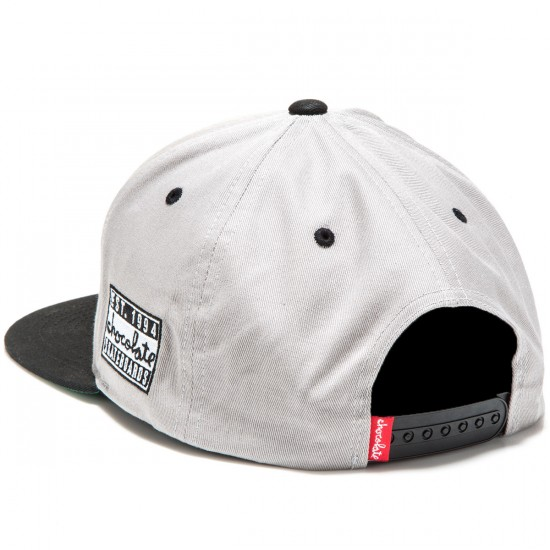 Chocolate Eazy-C 5 Panel Snapback Hats - Grey/Black