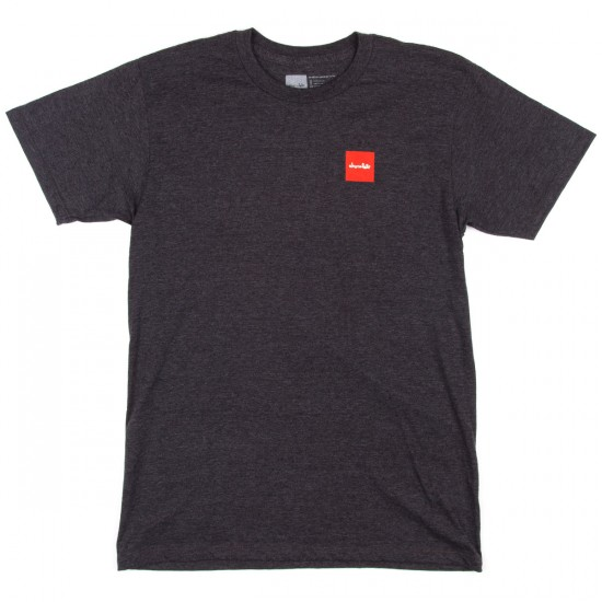 Chocolate Red Square T-Shirt - Charcoal Heather