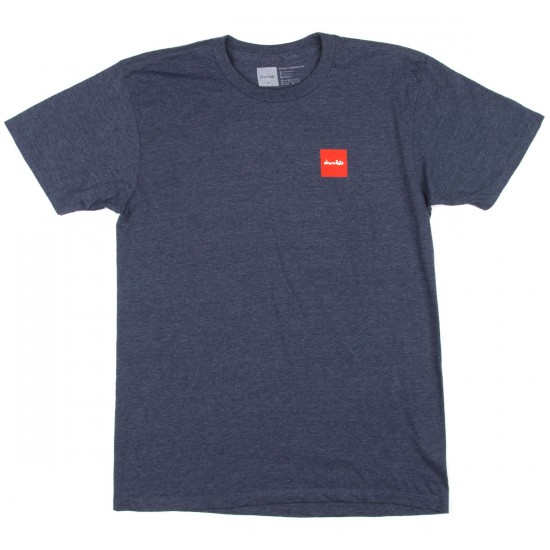 Chocolate Red Square T-Shirt - Navy Heather