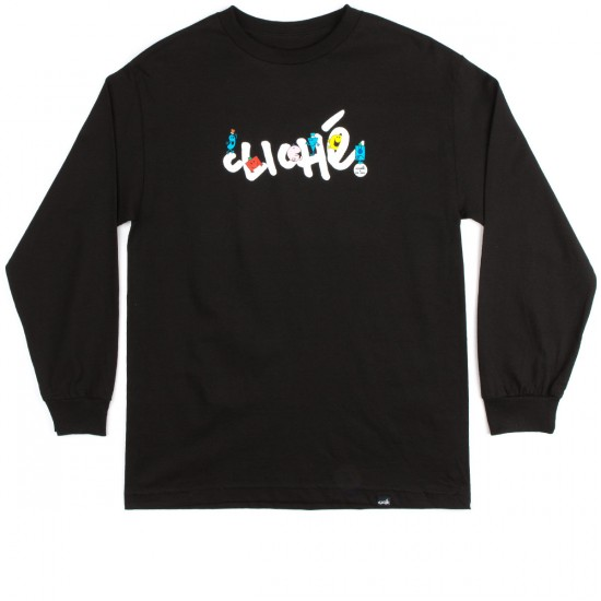 Cliche Mr. Men Handwritten Long Sleeve T-Shirt - Black