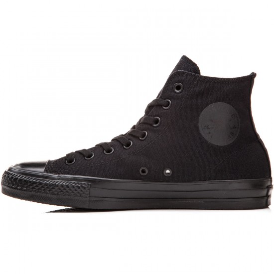Converse CTAS Pro Hi Shoes - Black/Black Canvas - 8.0