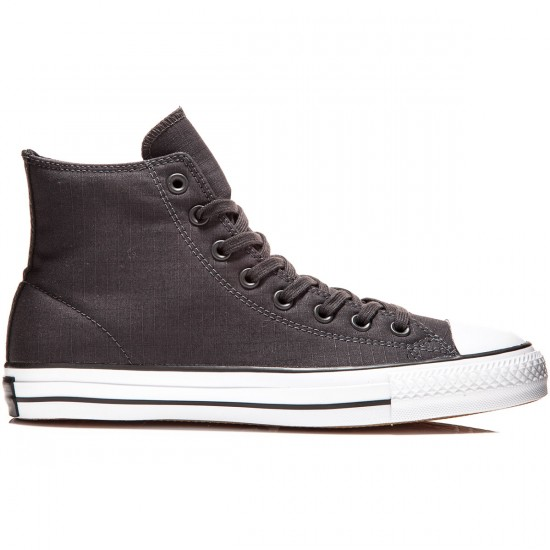 Converse CTAS Pro Hi Shoes - Almost Black/My Van Is On Fire - 6.0