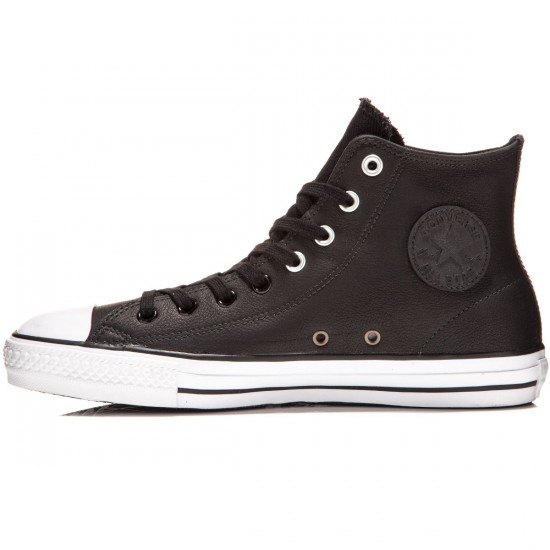 Converse CTAS Pro Hi Shoes - Black/White/Black - 6.0