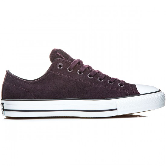 Converse CTAS Pro Shoes - Cherry Black/White - 6.0