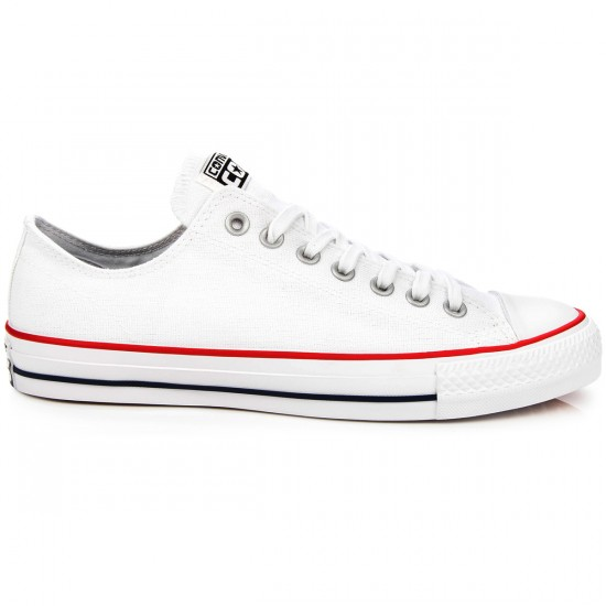 Converse CTAS Pro Canvas Shoes - White/Red/Navy - 6.0