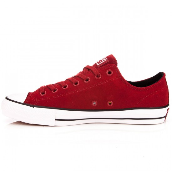 Converse CTAS Pro Suede Shoes - Chili Paste/White/Black - 10.0