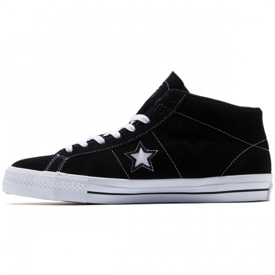 Converse One Star Pro Shoes - Black/White/Black - 8.0