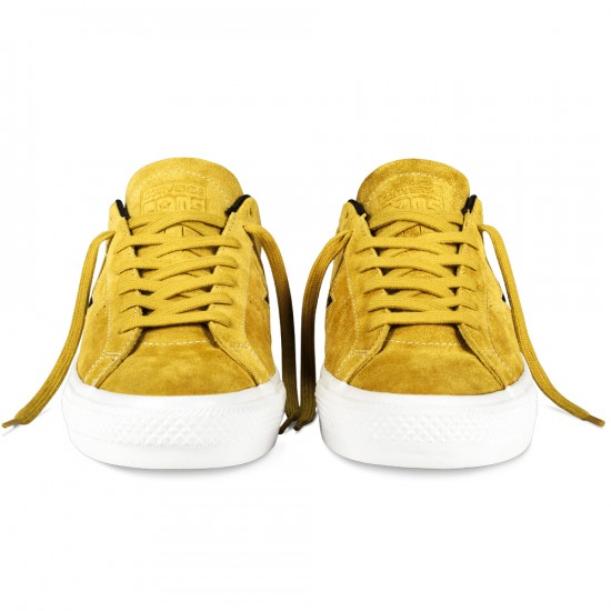 Converse One Star Pro Suede Shoes - Yellow/Black - 8.0