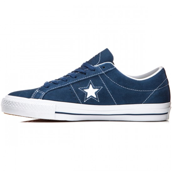 Converse One Star Skate Suede Shoes - Navy/White/Navy - 6.0