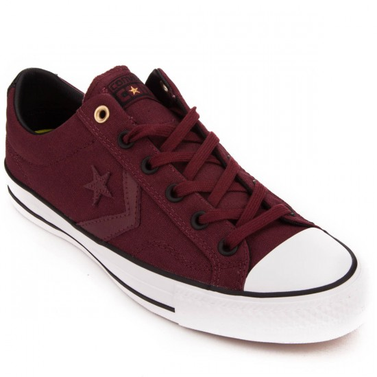 Converse Star Player Pro Canvas Shoes - Deep Bordeaux/Black/White - 10.0