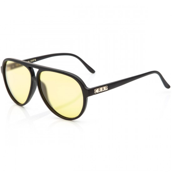 Crap Eyewear The Nite Shift Sunglasses - Flat Black/Yellow Tint