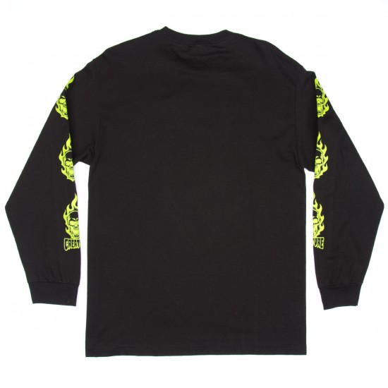 Creature Bonehead Long Sleeve T-Shirt - Black