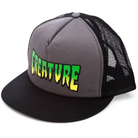 Creature Creature Logo Trucker Hat - Black/Grey