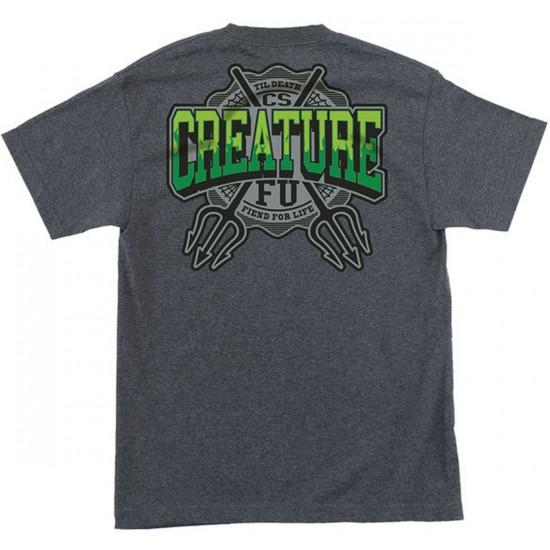 Creature Flunkee Pocket T-Shirt - Charcoal Heather