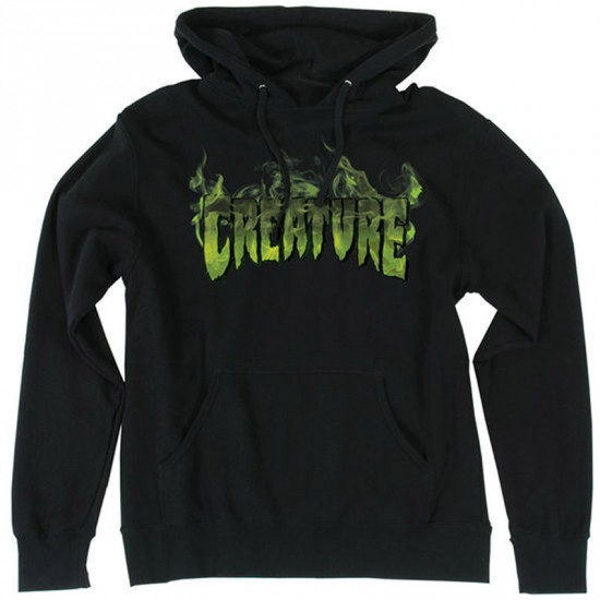 Creature Inferno Pullover Hoodie - Black