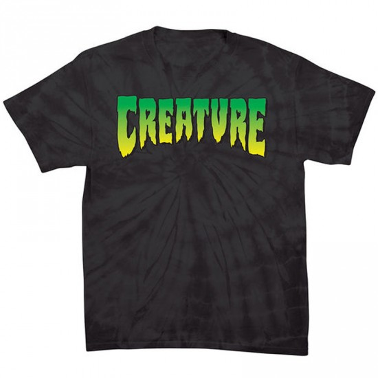Creature Logo T-Shirt - Spider Black