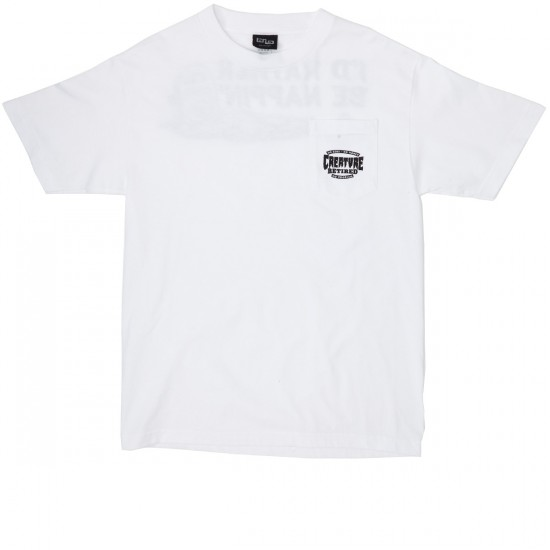 Creature Nappin Pocket T-Shirt - White